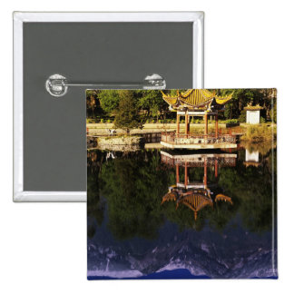 Asia, China, Yunnan, Dali. Cangshan Mountains 2 Inch Square Button