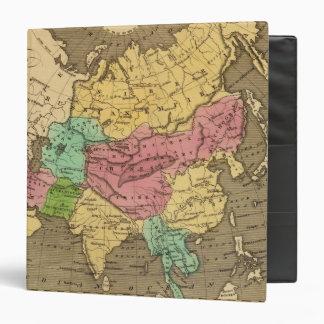 Asia Hand Coloured Atlas Map 2 Vinyl Binders