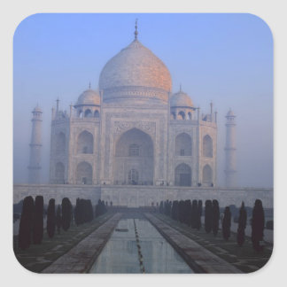 Asia; India; Agra. Taj Mahal. Square Sticker