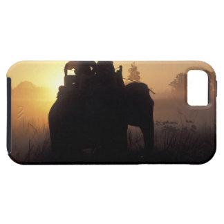 Asia, India, Kanha NP, Elephant safari iPhone 5 Case