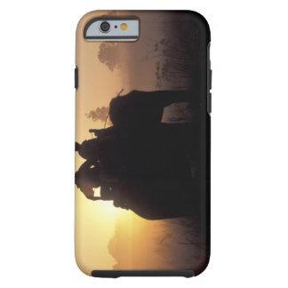 Asia, India, Kanha NP, Elephant safari Tough iPhone 6 Case