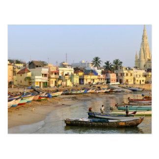 Asia, India, Tamil Nadu, Kanniyakumari Postcard