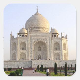 Asia, India, Uttar Pradesh, Agra. The Taj 8 Square Sticker