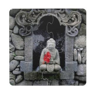 Asia, Indonesia, Bali. A shrine of Buddha Puzzle Coaster