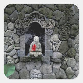 Asia, Indonesia, Bali. A shrine of Buddha Square Sticker