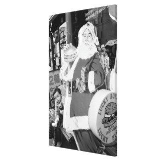 Asia, Japan, Hakodate. Santa Claus in Japan Canvas Print