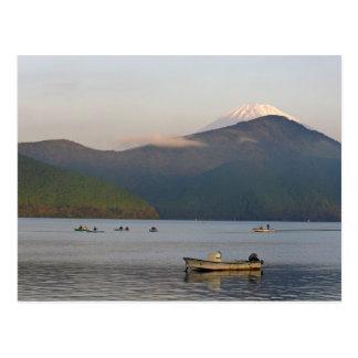 Asia, Japan, Hakone. Early morning views of Mt. Postcard