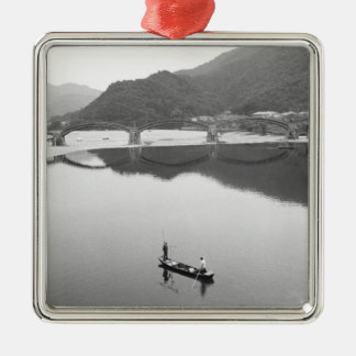 Asia, Japan, Iwakuni. Fishermen and historic 2 Metal Ornament