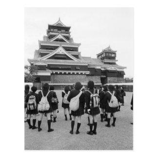 Asia, Japan, Kumamoto. Schoolchildren at Postcard