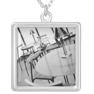 Asia, Japan, Tokyo. Cafe, Tokyo International Square Pendant Necklace