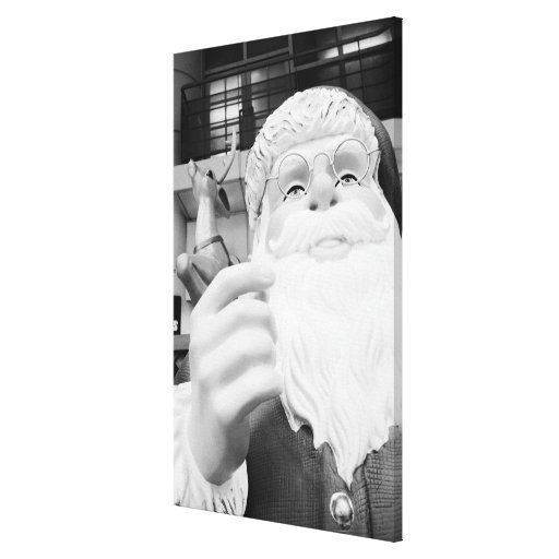 Asia, Japan, Tokyo. Santa Claus in Ikebukuro Gallery Wrapped Canvas
