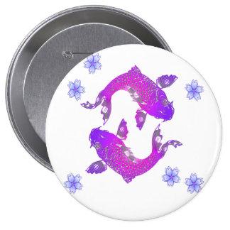 Asia Koi 4 Inch Round Button