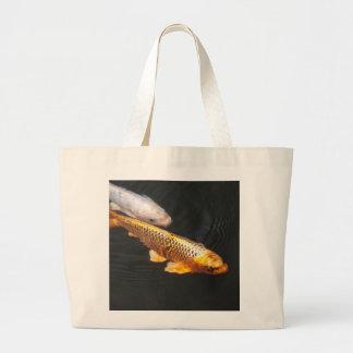 Asia Koi Fish Large Tote Bag
