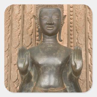 Asia, Laos, Vientiane, Bronze Buddha at Hawn Square Sticker