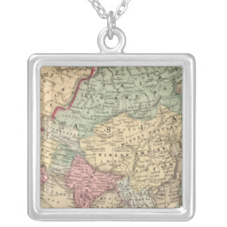 Asia Map by Mitchell Square Pendant Necklace