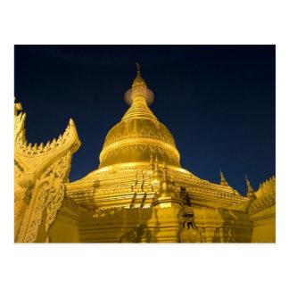 Asia, Maynmar, Yangon, Buddhist temple in Yangon Postcard