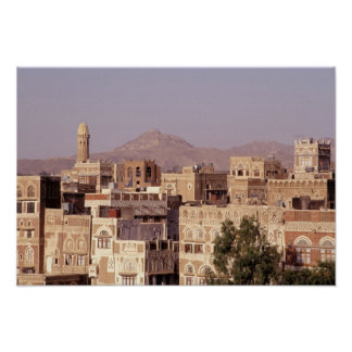 Asia, Middle East, Republic of Yemen, Sana'a. Poster