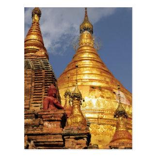 Asia, Myanmar (Burma), Bagan (Pagan). The Dhamma Postcard