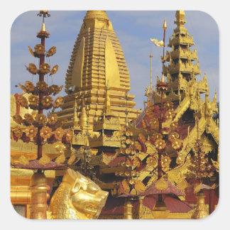 Asia, Myanmar (Burma), Bagan (Pagan). The Shwe 3 Square Sticker
