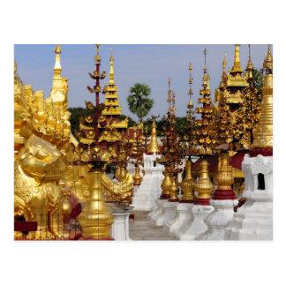 Asia, Myanmar (Burma), Bagan (Pagan). The Shwe 5 Postcard