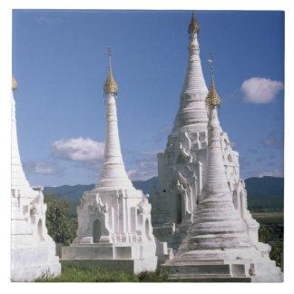 Asia, Myanmar, Inle Lake. Pagodas. 2 Tiles