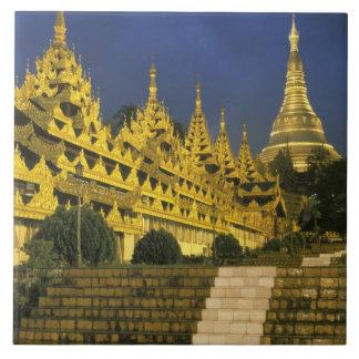 Asia, Myanmar, Yangon. Shwedagon Pagoda at Ceramic Tile