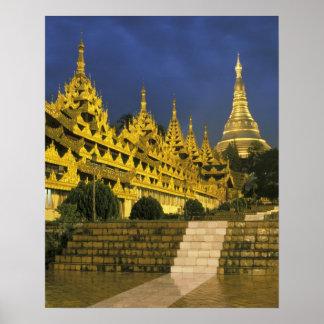 Asia, Myanmar, Yangon. Shwedagon Pagoda at Poster