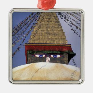 Asia, Nepal, Kathmandu. Bouddhanath Stupa. 2 Metal Ornament