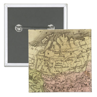 Asia Olney Map 2 Inch Square Button