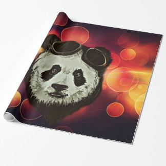 Asia Panda Bear with Bokeh Style