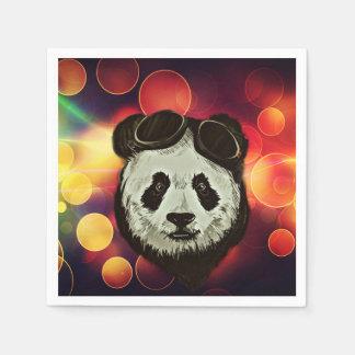 Asia Panda Bear with Bokeh Style Paper Napkin
