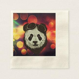 Asia Panda Bear with Bokeh Style Paper Napkins