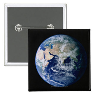 Asia Seen from Space 2 Inch Square Button