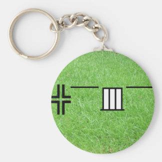 asia style #01 basic round button keychain