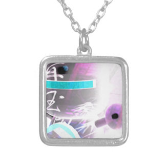 Asia styling square pendant necklace