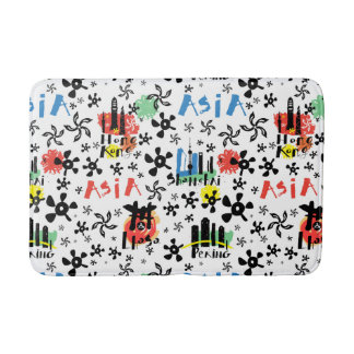Asia | Symbols Pattern Bath Mat
