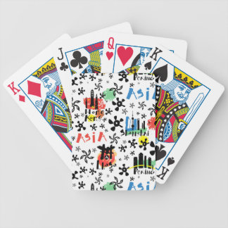 Asia | Symbols Pattern Bicycle Playing Cards