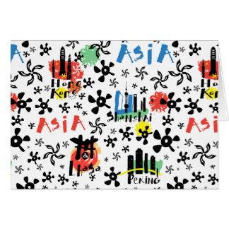 Asia | Symbols Pattern Card