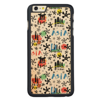 Asia | Symbols Pattern Carved Maple iPhone 6 Plus Case