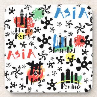Asia   Symbols Pattern Coaster