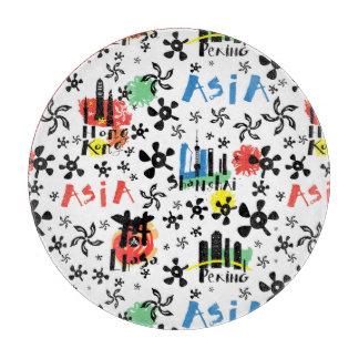 Asia   Symbols Pattern Cutting Board