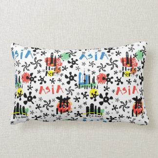 Asia | Symbols Pattern Lumbar Pillow