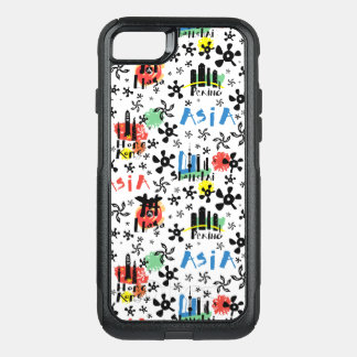 Asia | Symbols Pattern OtterBox Commuter iPhone 8/7 Case