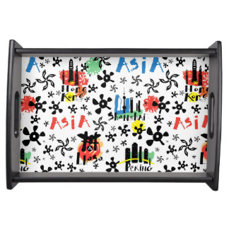 Asia | Symbols Pattern Serving Tray