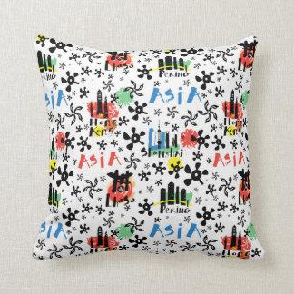 Asia | Symbols Pattern Throw Pillow