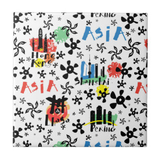 Asia | Symbols Pattern Tile