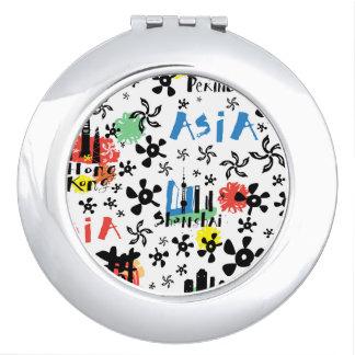 Asia | Symbols Pattern Vanity Mirrors