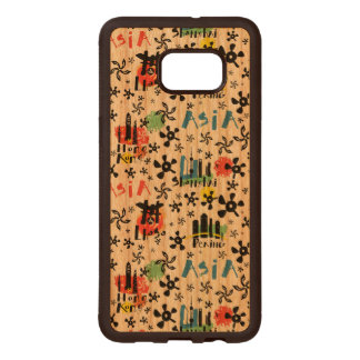 Asia | Symbols Pattern Wood Samsung Galaxy S6 Edge Case