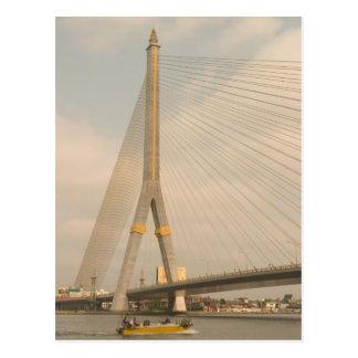 Asia, Thailand, Bangkok, bridge over Chao Postcard