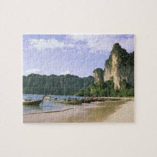 Asia, Thailand, Krabi. West Railay Beach, long Jigsaw Puzzle